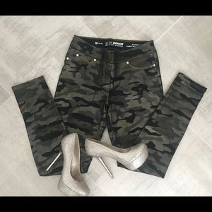 Skinny Army style jeans with a sparkly twist